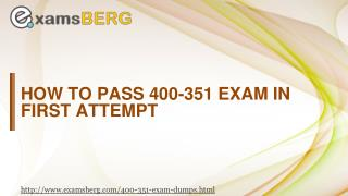 Cisco 400-351 Actual Exam Question Answers