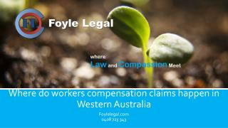 Where do workers compensation claims happen in Western Australia