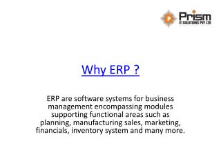 ERP Software Provider Company | Prism IT solution