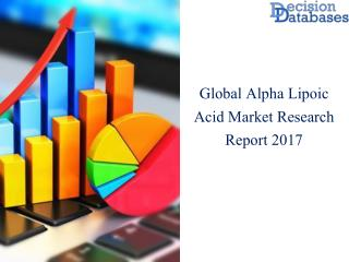 Worldwide Alpha Lipoic  Market Manufactures and Key Statistics Analysis 2017