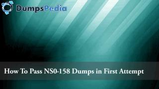How to pass NetApp Certified Data Administrator Exam with NS0-158 Dumps