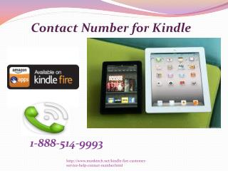 Why do I need Amazon Contact Number for Kindle? @1-888-514-9993