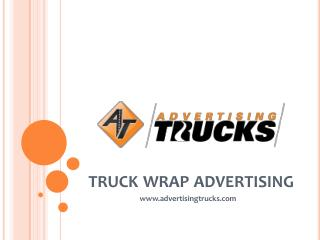 Truck Wrap Advertising - AT