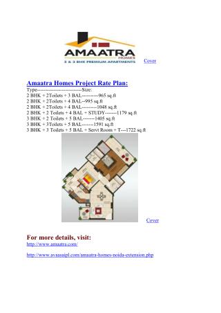 Flat in Noida#@  91-9711619001 #@ Amaatra Homes