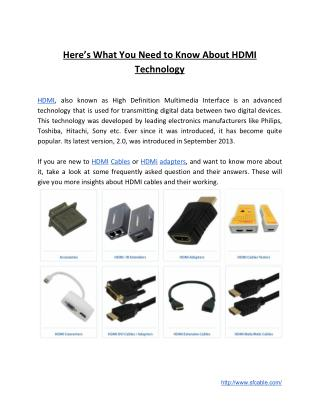 Answers to Your Queries About HDMI Technology