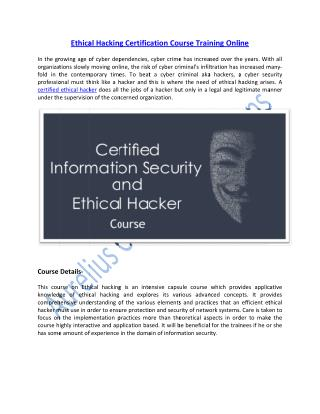 Learn Ethical Hacking Certification Course