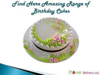 Find Here Amazing Range of Birthday Cakes