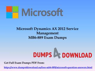 Download Free Microsoft MB6-899 Dumps Sample Questions