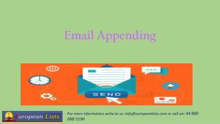 Advantages of Email Appending