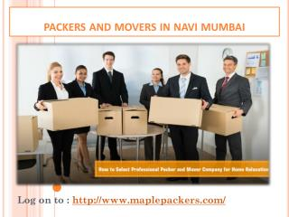 Best Movers and packers company in Navi Mumbai