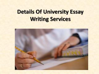 Details Of University Essay Writing Services
