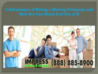 5 Advantages of Hiring a Moving Company