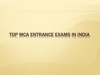 Top MCA Entrance Exams in India