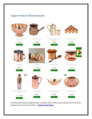 Copper Products   Kitchen Utensils