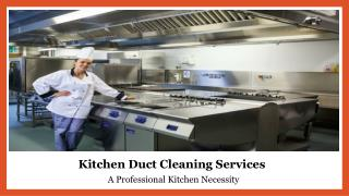 Kitchen Exhaust Duct Cleaning Services in Dubai