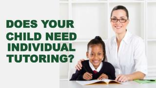 Does Your Child Need Individual Tutoring
