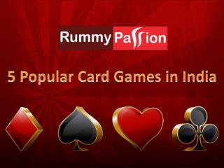 5 Popular Card Games in India