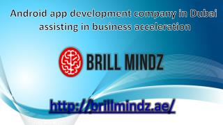 Android app development company in Dubai