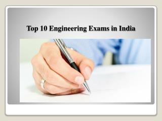 Top 10 Engineering Exams in India