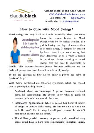 How to Cope with Mood Swings?