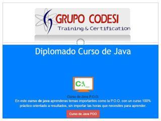 Curso Diplomado de Java