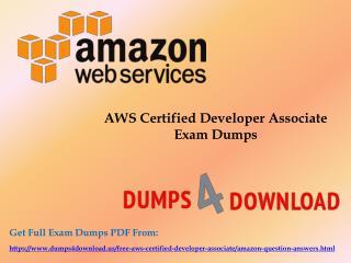 Latest 2017 AWS Certified Developer Associate Exam Questions