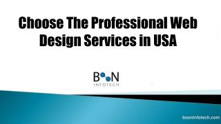 Choose the professional web design services