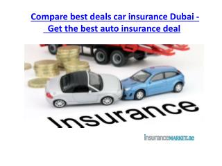 Compare best deals Car Insurance Dubai
