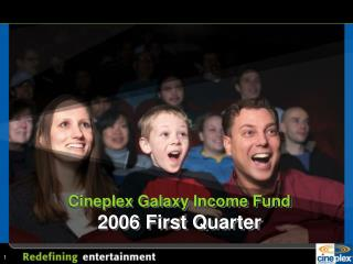 Cineplex Galaxy Income Fund  2006 First Quarter