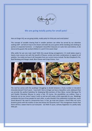 Find The Best Catering Service In Hampshire - Ginger Catering Company