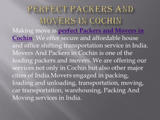Perfect Packers and Movers in Cochin