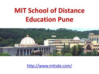 MIT School of Distance Education Pune