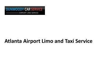 Atlanta Airport Limo and Taxi Service