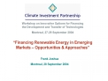 Financing Renewable Energy in Emerging Markets   Opportunities  Approaches