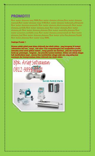 0812-9899-0121 (Bpk. Arief) jual flow meter air di Surabaya,distributor flow meter air di Jakarta,digital flow meter for