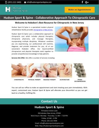 Hudson Sport & Spine - Collaborative Approach To Chiropractic Care