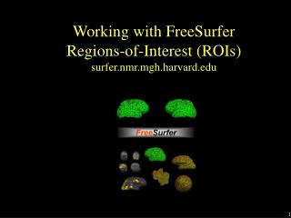 Working with FreeSurfer  Regions-of-Interest (ROIs) surfer.nmr.mgh.harvard.edu