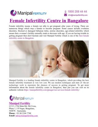 Female Infertility Centre in Bangalore