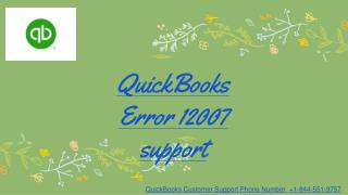 QuickBooks Error 12007 Support