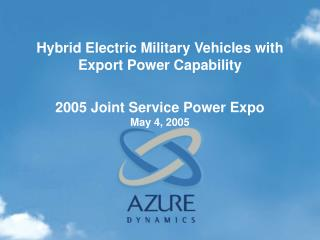 2005 Joint Service Power Expo May 4, 2005
