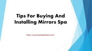 Tips For Buying And Installing Mirrors Spa.pptx