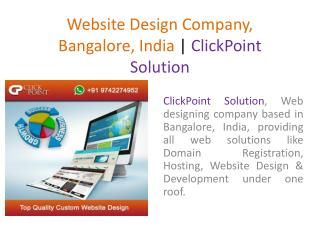 Website Design Company, Bangalore, India | ClickPoint Solution