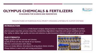 API, Pharmacopoeia Impurities | Olympus Impurities Standard Suppliers