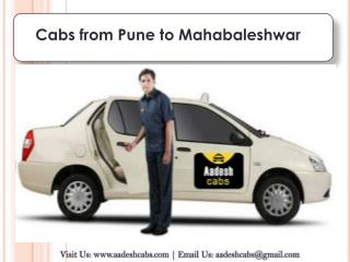 cabs from Pune to Mahabaleshwar