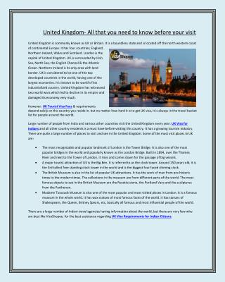 United Kingdom- All that you need to know before your visit