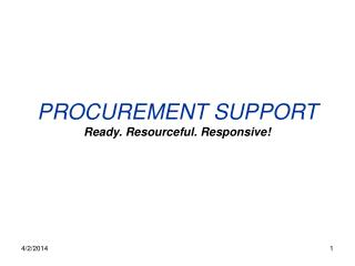 PROCUREMENT SUPPORT