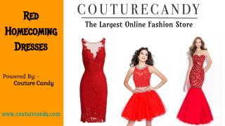 Gorgeous Red Homecoming Dresses at Affordable Prices