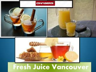 Fresh Juice Wholesale Vancouver