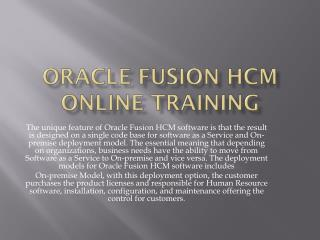 Oracle Fusion Financial Training Institute
