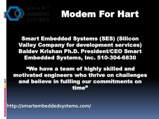 Smartembeddedsystems.com- Industrial automation devices-HART modem- HART devices Solution- HART STACK for controls